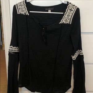 Black Peasant Top